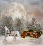 Viaje de la Navidad Imagenes de archivo
