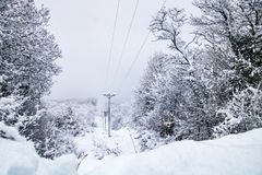 Viaje de la nieve fotos de archivo libres de regalías