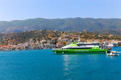 Viaje de la travesía - isla de Grecia Fotos de archivo