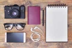Viaje de la visión superior o concepto de las vacaciones imagen de archivo