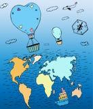 Viaje 01 A de los balones de aire libre illustration