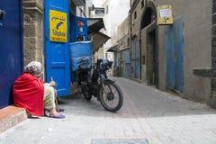 Viaje de Marruecos Calle estrecha Fotos de archivo libres de regalías