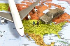 Viaje de negocios americano Imagen de archivo libre de regalías