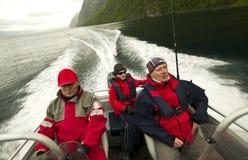 Viaje de pesca en Noruega Imágenes de archivo libres de regalías