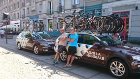 Viaje De Pologne Czstochowa Cityde la raza de ciclo Fotografía de archivo
