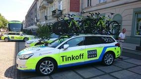 Viaje de Pologne de la raza de ciclo en la ciudad de CzÄ™stochowa Foto de archivo libre de regalías