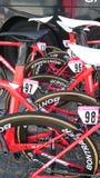 Viaje de Pologne de la raza de ciclo en la ciudad de CzÄ™stochowa Fotografía de archivo
