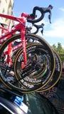 Viaje de Pologne de la raza de ciclo en la ciudad de Czestochowa Foto de archivo libre de regalías