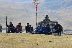 Viaje de Roopkund Imagen de archivo libre de regalías