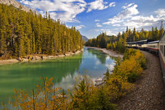 Viaje de tren de Rockies fotos de archivo libres de regalías