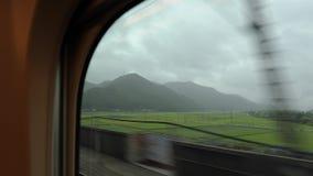 Viaje de tren de Japón almacen de video