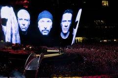 Viaje de U2 360° - viva en Turín Foto de archivo