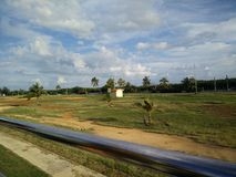 Viaje del autobús en Varadero, Cuba Fotos de archivo libres de regalías