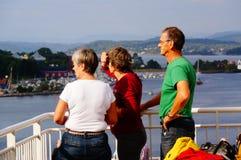 Viaje del barco de cruceros, Langesund, Noruega fotografía de archivo