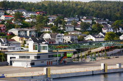 Viaje del barco de cruceros, Langesund, Noruega imágenes de archivo libres de regalías