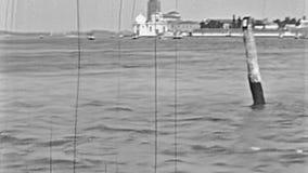 Viaje del barco de Venecia Murano almacen de metraje de vídeo