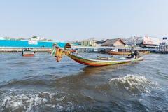 Viaje del barco en el río Chao Phraya Fotografía de archivo libre de regalías