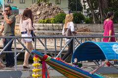Viaje del barco en el río Chao Phraya Fotografía de archivo