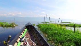 Viaje del barco del lago Inle almacen de metraje de vídeo