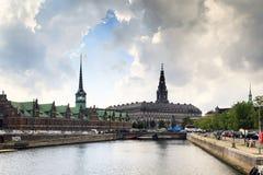Viaje del barco a través de Copenhague Foto de archivo libre de regalías