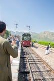 Viaje del bolso del tren del safari que viene a Peshawar del ataque y lo mismo Foto de archivo libre de regalías