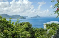 Viaje del Caribe Destiantion de British Virgin Islands imagen de archivo