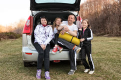 Viaje del coche de familia Foto de archivo