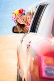 Viaje del coche del verano imagenes de archivo
