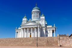 Viaje del copyspace de Tuomiokirkko de la catedral de la iglesia de Helsinki Finlandia Imagenes de archivo
