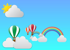 Viaje del globo del aire caliente Libre Illustration