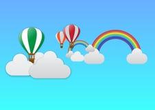 Viaje del globo del aire caliente Fotografía de archivo libre de regalías