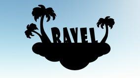 Viaje del logotipo Foto de archivo