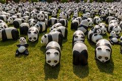 Viaje del mundo de 1600 pandas Fotografía de archivo libre de regalías