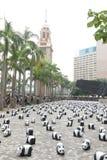 Viaje del mundo de 1600 pandas en Hong Kong Fotos de archivo