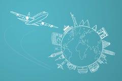 Viaje del mundo ilustración del vector