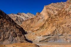 Viaje del st Markha del río de Zanskar, Ladakh, Himalaya indio fotos de archivo