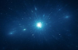 Viaje del tiempo de la explosión de la estrella Fotografía de archivo libre de regalías