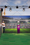 Viaje del trofeo de la UEFA en Donetsk Fotografía de archivo libre de regalías