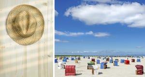 Viaje del verano de la díptica y concepto de las vacaciones Fotografía de archivo