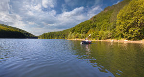 Viaje del verano en el río Fotografía de archivo