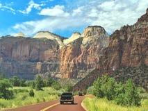 Viaje dentro de Zion Park nacional, Utah Fotos de archivo libres de regalías