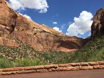 Viaje dentro de Zion Park nacional, Utah Foto de archivo