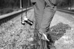 Viaje descalzo Foto de archivo libre de regalías