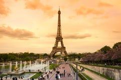 Viaje Eiffel en París Imagen de archivo
