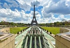 Viaje Eiffel, París del La Visión desde los jardines de Trocadero Fotos de archivo libres de regalías