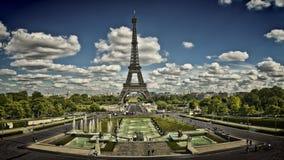 Vista de París del Trocadero Fotografía de archivo libre de regalías