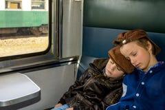 Viaje el dormir Fotografía de archivo libre de regalías