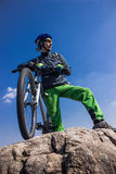 Viaje en bici Imágenes de archivo libres de regalías
