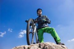 Viaje en bici Imagenes de archivo