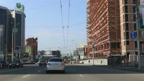 Viaje en coche en los caminos de Novosibirsk Imagen de archivo
